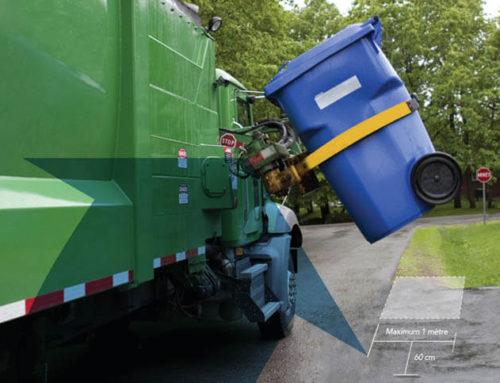 Rappel : Positionnement du bac – collecte des matières recyclables